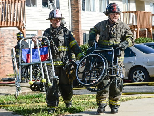 Fire guts apartment in Anderson