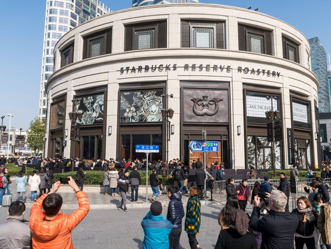 This is the Starbucks Reserve Roastery outlet in Shanghai