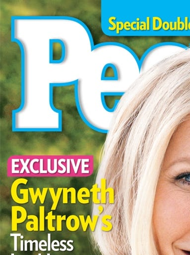 "Gwyneth Paltrow is having a major spring moment. She's got a new cookbook ('It's All Good'), an upcoming action flick ('Iron Man 3'), and she's just landed the cover of 'People' magazine as the ""World's Most Beautiful"" woman. She's been promoting her various projects here, there and everywhere and USA TODAY's Arienne Thompson has the details on all of Paltrow's latest looks."