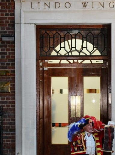 A Town Crier announces the birth of the royal baby, a boy, outside the historic Lindo Wing at St. Mary's hospital in London. This is the same wing where Princess Diana gave birth to Prince William -- and later Prince Harry -- 31 years ago.