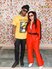 Ty Dolla $ign and Lauren Jauregui at the #RevolveFestival