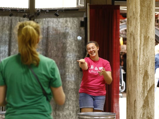 Downtown Wausau employees play office games during