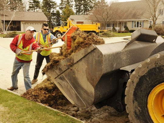 File photo of spring cleanup in Manitowoc.