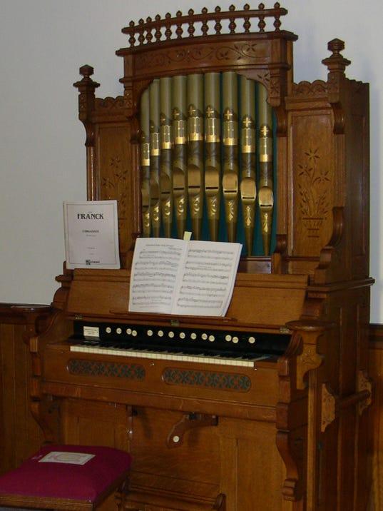 Organ at Historic Cokesbury Church