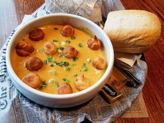 Beer cheese soup from Coffeeville Company in the Town