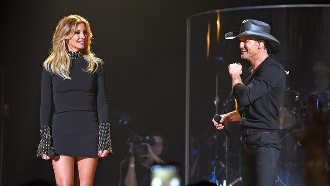Tim McGraw and Faith Hill announced their Soul2Soul World Tour 2017 at the start of their first-ever performance Tuesday, Oct. 4, 2016, at the Ryman Auditorium.