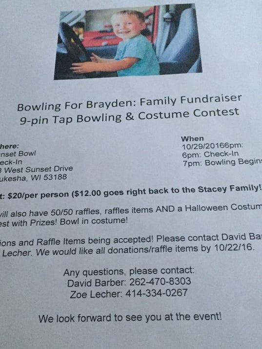 Bowling for Brayden Fundraiser