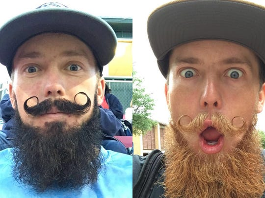 Will Marshall enjoys experimenting with facial hair.