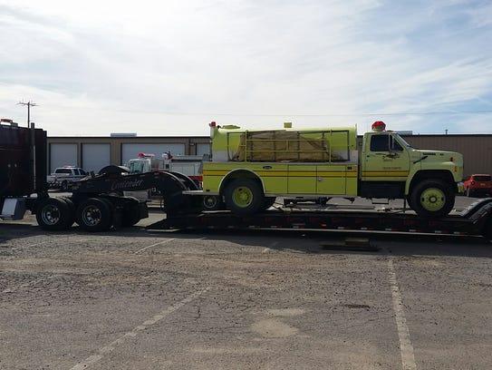Doña Ana County donates fire equipment to Houston following
