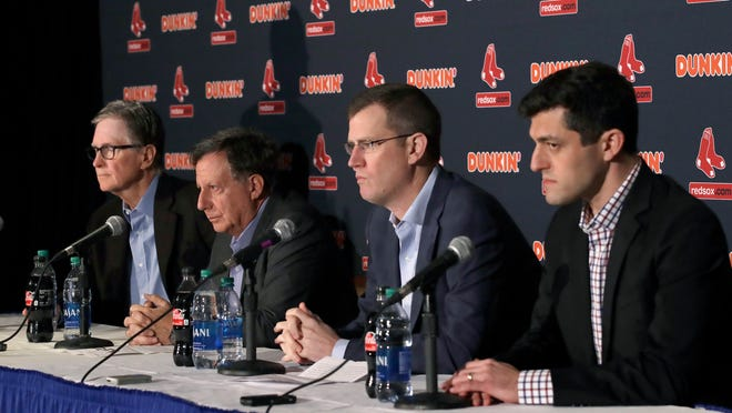 The Red Sox front office -- John Henry, Tom Werner, Sam Kennedy and Chaim Bloom -- addressed the team Monday.