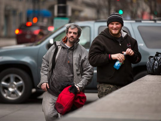 March 22, 2017: Homeless, DCI, downtown, Cincinnati, panhandlers, Liz Dufour