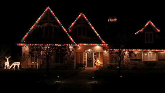 The lights on this home on Old Farm Road in Washington