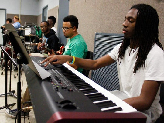 Bossier High School Jazz TAP Band practicing on Tuesday