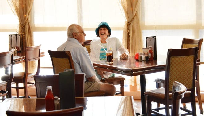 Retirees Marie and Bob Langworthy enjoy dining out several times a week, and one of their favorite restaurants is the Lake View Restaurant in Coventry, Ct.