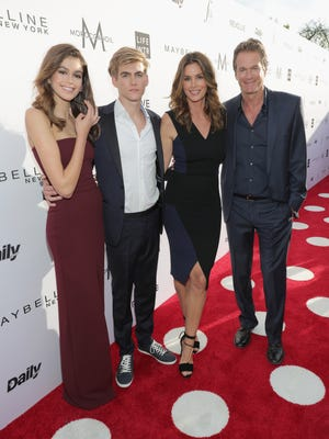 Kaia Gerber, Presley Gerber, Cindy Crawford and Rande Gerber the Fashion Los Angeles Awards on April 2, 2017, in West Hollywood.
