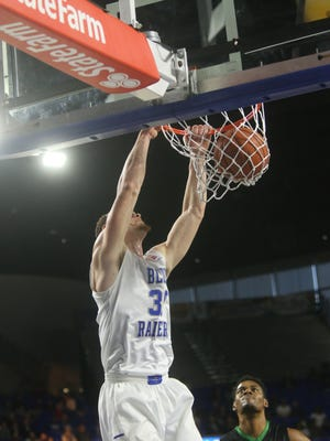 Forward Reggie Upshaw will need to continue to be physical in the paint as the Blue Raiders close out the season in Florida.