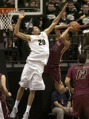 Purdue - IUPUI basketball.  A.J. Hammons.  By Jerry Schultheiss for Journal & Courier.
