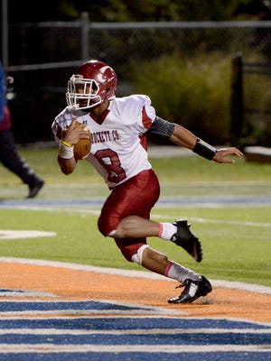 Crockett County's Johnny Jones runs in for a touchdown during their game against Westview Friday in Martin.