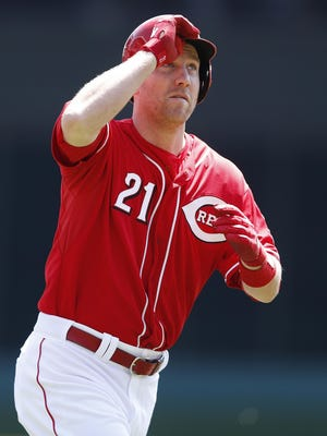 """'Right now I'm a Red, I'm glad to be a Red and that's where I want to be,"""" Todd Frazier said in regards to trade rumors sending him to the Mets."""