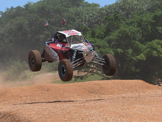 In this file photo from last year, Chris Robbetts competes in the Off-Road Buggies and Trucks Endurance Race during APL Smokin' Wheels 2017 at the Guam International Raceway on April 9, 2017.
