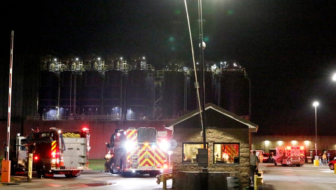 Lancaster firefighters responded to a call at TreeHouse Foods on the city's far east side shortly after 9:30 p.m. Tuesday night, June 26, 2018. Lancaster Fire Capt. K.J. Watts said a fire in the cereal manufacturing plant sparked when cereal dust ignited during the drying process. No one was injured and employees returned to work as fire crews left the plant. Firefighters from five other departments responded to the call.