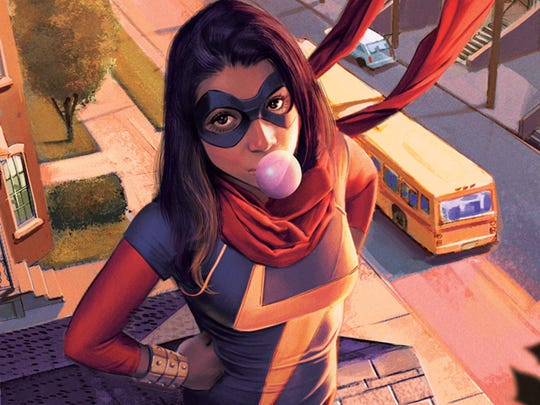 Kamala Khan, aka Ms. Marvel, is Jersey City's resident teen superheroine.