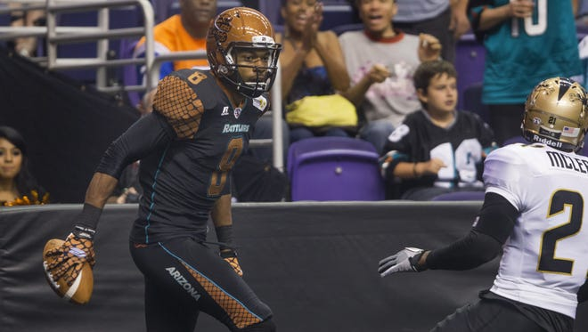 Wide receiver Markee White, who was in the midst of a career season for the Rattlers, will miss the remainder of the Arena Football League season with a broken back.