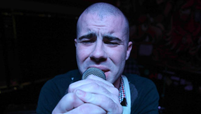 """Delaware musician Patrick """"Paddy"""" Corcoran performs at Wilmington rock club 1984 in January 2015."""