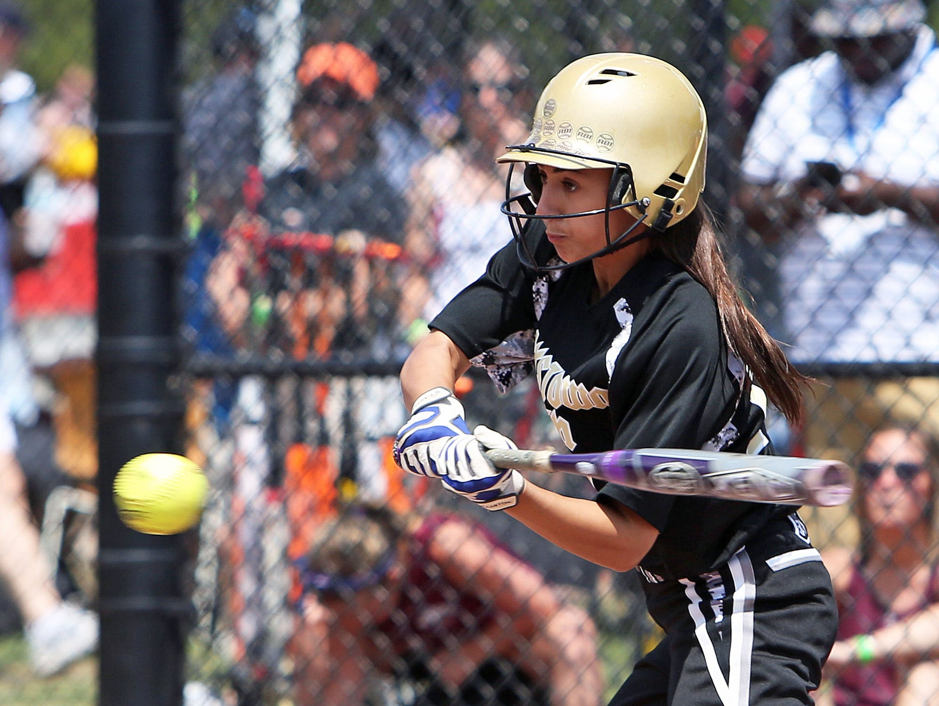 Orchard Park defeated Clarkstown South 9-6 in the class AA NYSPHSAA girls softball semifinal in South Glens Falls June 13, 2015.