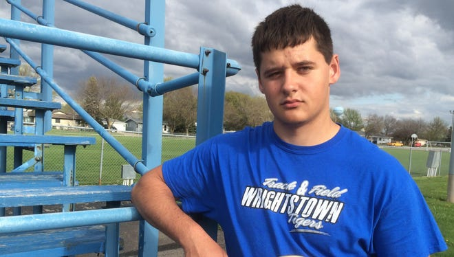 Wrightstown senior Nathan Beining
