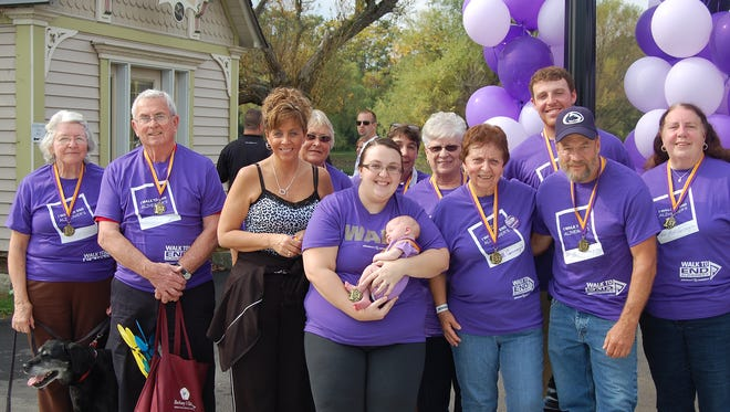Hundreds gathered for the 2014 Walk to End Alzheimer's  in Elmira. More than $35,000 was raised for the Alzheimer's Association at the event.