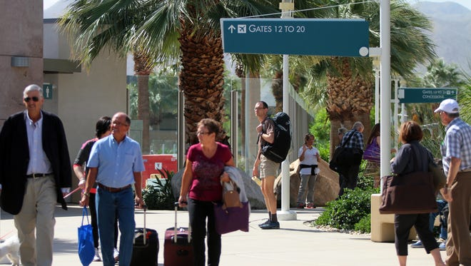 The Palm Springs International Airport.