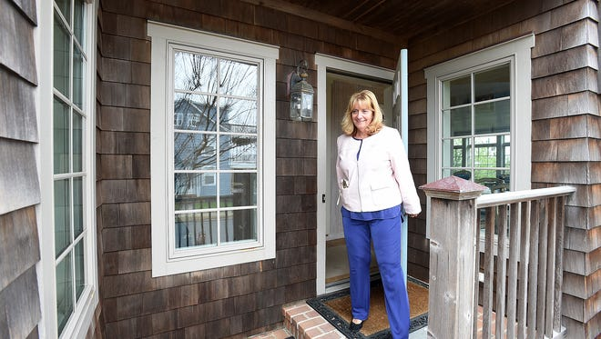 Jo-ann Bacher, Rental Manager at Jack Lingo REALTOR in Rehoboth Beach checks on a rental home on the oceanfront on Stockley Street in Rehoboth.