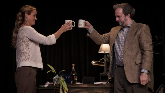 "Emily Tynan McDaniel and Andrew Gall in ""Better Strangers"" at Asheville's Magnetic Theatre."
