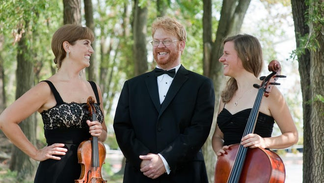 From left, are West Shore Piano Trio members Heather Haughn, Jay DeWire and Diana Flesner. The group will perform at WNMU's Light Hall Theater on Nov. 14 at 7 p.m.