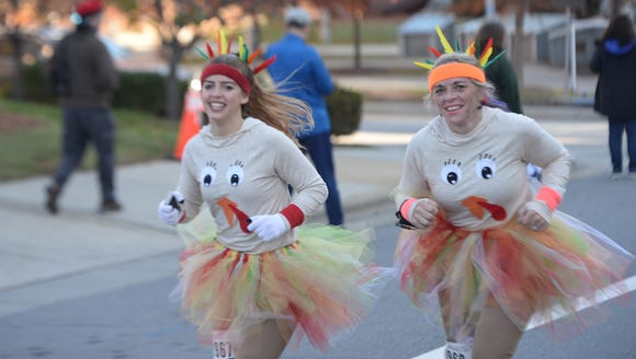 Nearly 2,000 people ran in the annual Turkey Trot 5K