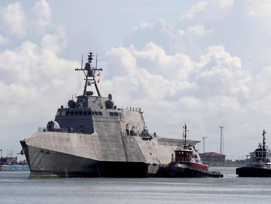 AP USS GABRIELLE GIFFORDS-COMMISSIONING A USA TX