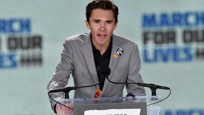 Marjory Stoneman Douglas High School student David Hogg speaks during the March for Our Lives Rally in Washington.