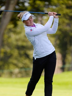 Brooke Henderson settled for an even-par 72 on Saturday after setting the tournament record Friday.