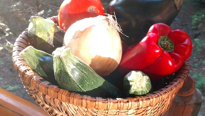A weekend trip to farmers markets in Marshall, Mars Hill and Hot Springs will allow shoppers to pick up most all ratatoullie ingredients through the summer.