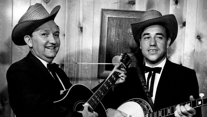 Lester Flatt, left, and Earl Scruggs. Staff photo by