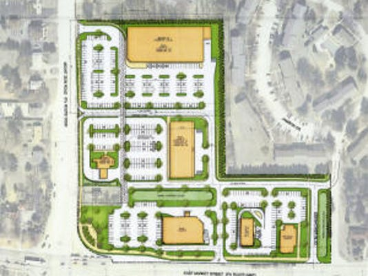 The developer for a proposed shopping center has provided a conceptual layout and other information to Springettsbury Township officials. (Submitted)