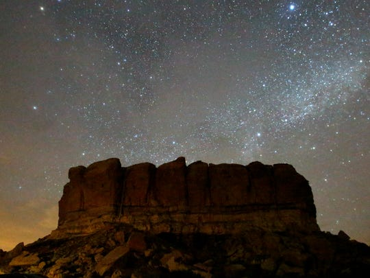 Stars illuminate the sky around Chaco Culture National Historic Park.