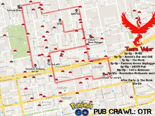 Pokémon bar crawl through Over-the-Rhine.