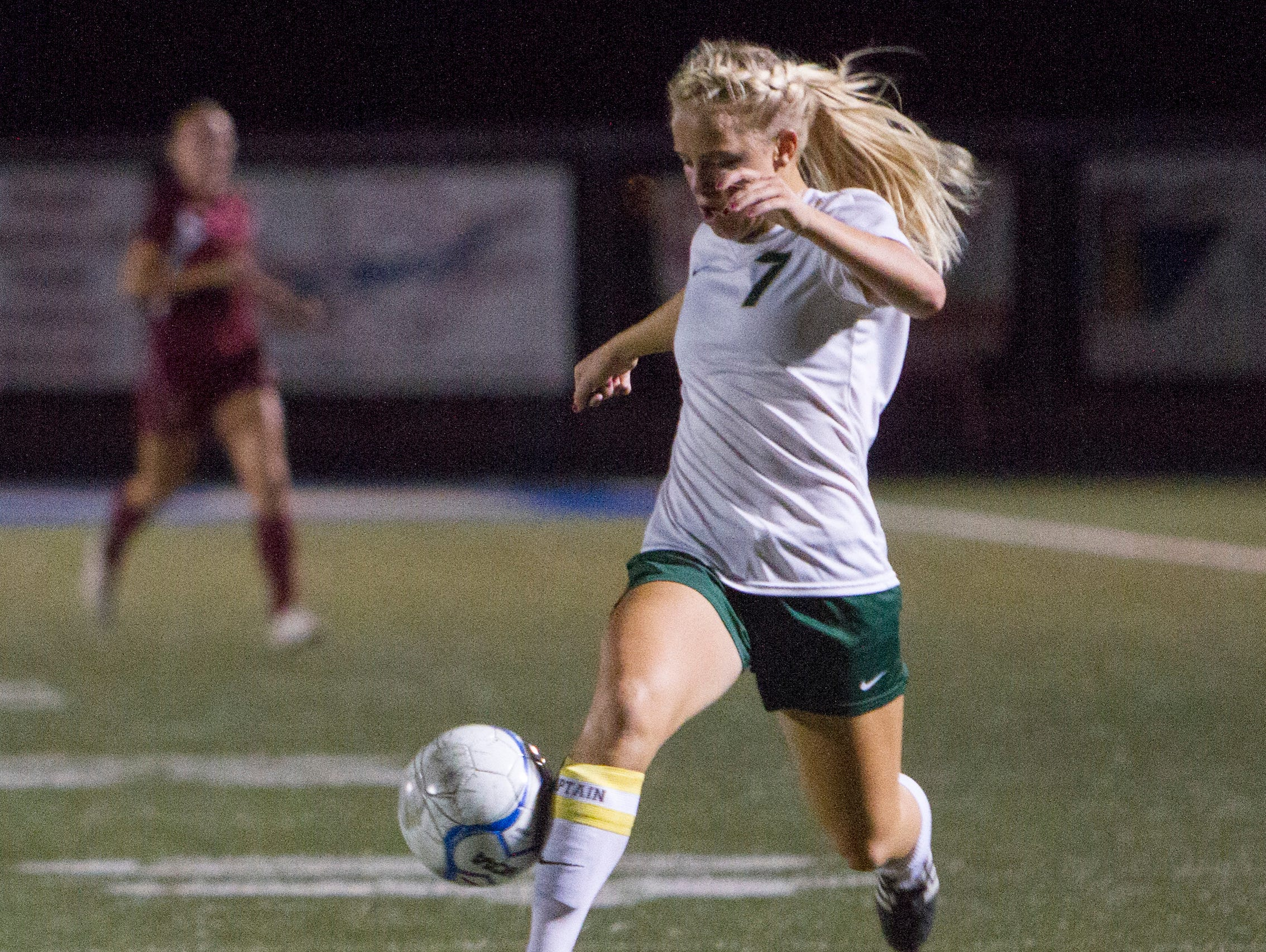 Snow Canyon's Mishayla Fausett (pictured) scored the game-winning goal against Cedar in overtime Tuesday at Snow Canyon High School.