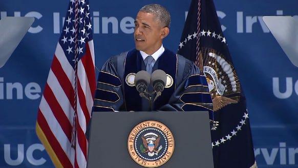 Obama at UC Irvine