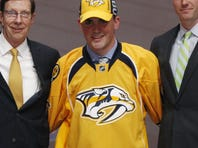 The Predators selected defenseman Dante Fabbro with the No. 17 pick in the NHL draft Friday.