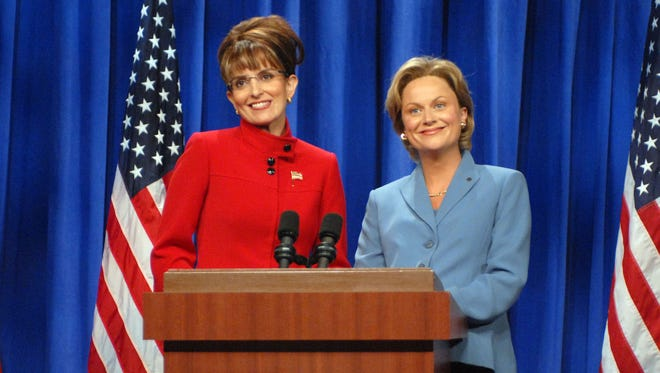Amy Poehler and Tina Fey played well off of each other as Weekend Update anchors and on SNL like in this Septemer 2008 skit. Fey portrayed Alaska Gov. Sarah Palin, left, and Poehler was Sen. Hillary Clinton.