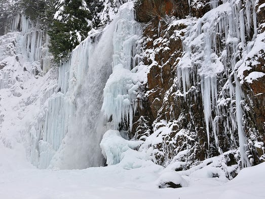 "Franklin Falls, Mt. Baker-Snoqualmie N.F., Wash.: During winter cold snaps, this short out-and-back an hour from Seattle is a rare treat. The falls freeze over, creating what one recent hiker called ""a grandiose ice pipe organ."" Only a two-mile round trip with 400 feet of elevation gain, this trek through old-growth forest along the South Fork Snoqualmie River is easy, but may require ice cleats and trekking poles for the final short climb to the base of the falls."