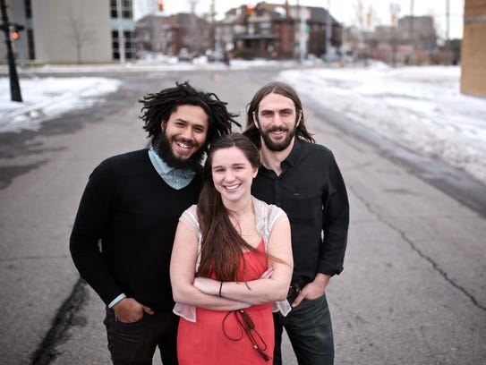 (From left) Co-founder Theodore Kozerski, 26, of Detroit,